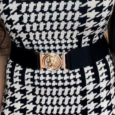 LaNorsa versacee belt gold