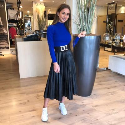 LaNorsa plisse black skirt