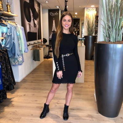 LaNorsa black raffle dress