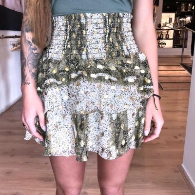 LaNorsa green gold skirt