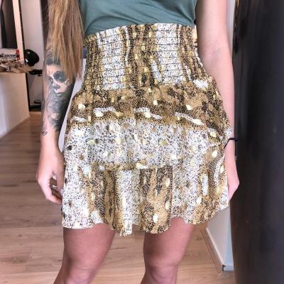 LaNorsa brown gold skirt