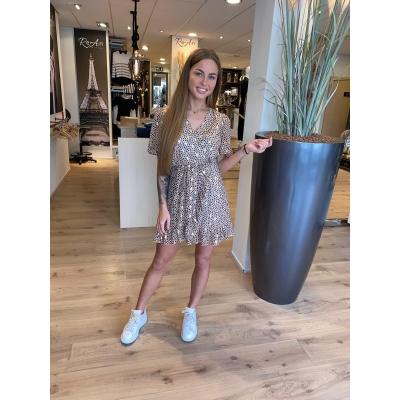 LaNorsa beige dotts dress