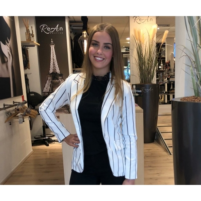 LaNorsa blazer white stripe