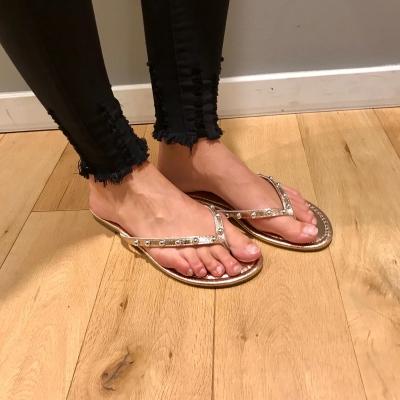 LaNorsa slippers gold