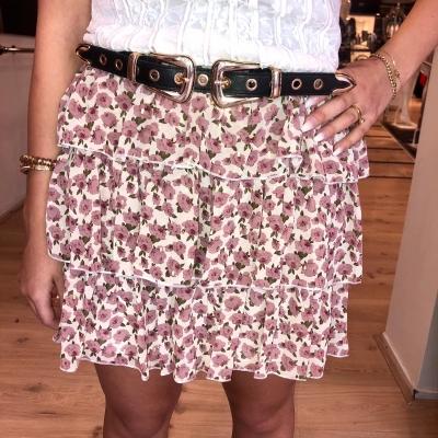 LaNorsa skirt roses pink white