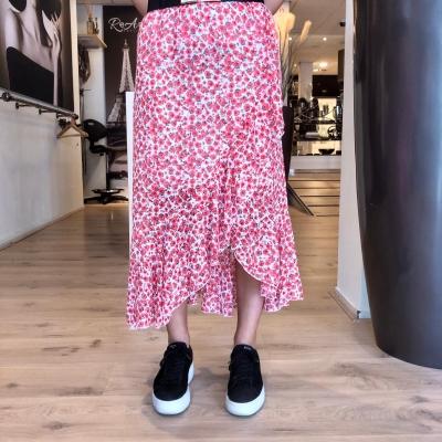 LaNorsa red maxi skirt