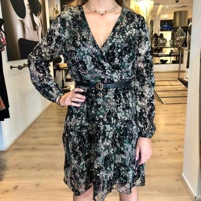 LaNorsa green velvet dress
