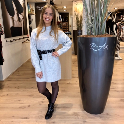 LaNorsa Cable dress grey