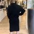 LaNorsa rib dress black
