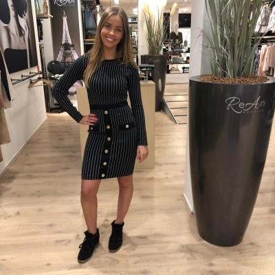 LaNorsa stripe stretch dress