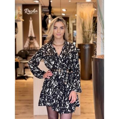 LaNorsa black white dress