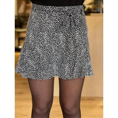 LaNorsa dotts black white skirt