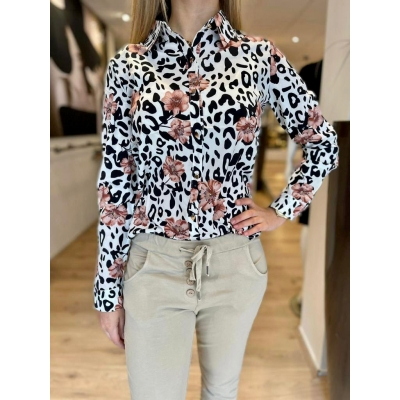 LaNorsa pink flowie blouse