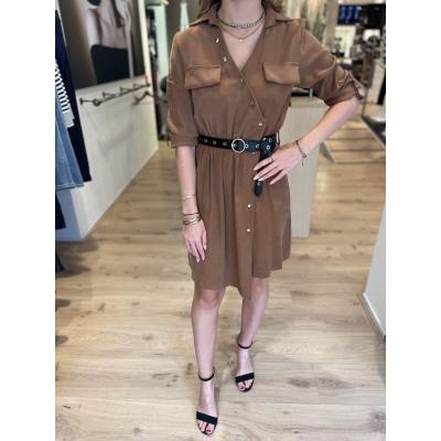 LaNorsa brown Syl dress