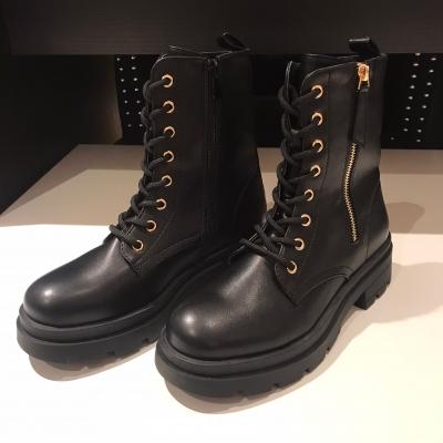 Gold zip boots