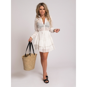 NIKKIE Sadie Dress White