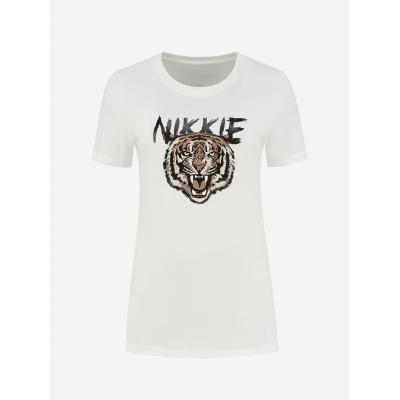 NIKKIE Tiger tshirt white