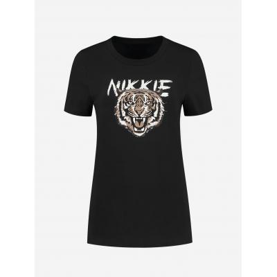NIKKIE Tiger tshirt black