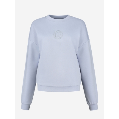 NIKKIE Punta Balloon sweater blue